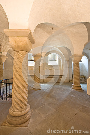Romanesque crypt in Deventer, Netherlands