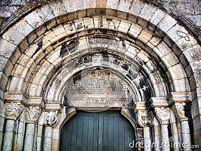 Tympanum of romanesque Cedofeita church