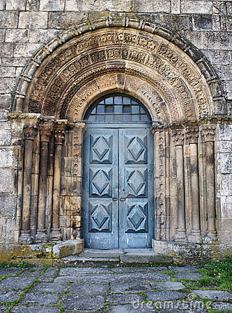 Romanesque door of Paderne monastery