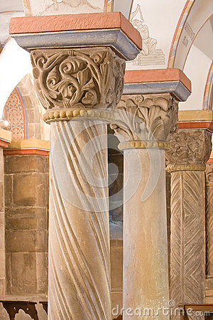 Romanesque pillars, 12th century