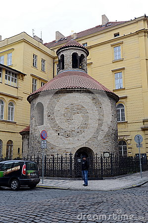 Free Romanesque Rotunda Is One Of Prague's Oldest Buildings, Starting Out As Parish Church In About 1100. Stock Photography - 89620712