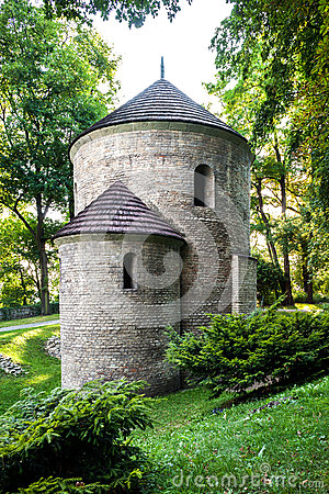 Free Romanesque St Nicholas Rotunda On Castle Hill In Cieszyn, Poland. One Of The Oldest Romanesque Monuments In Polish. Stock Image - 33391361