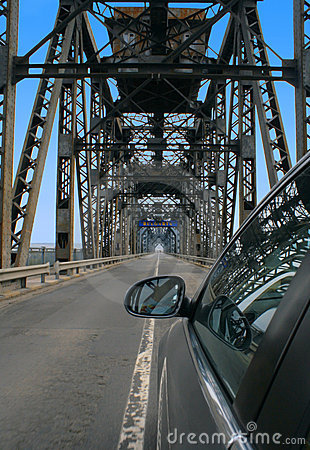 Romania Bulgaria border crossing the bridge