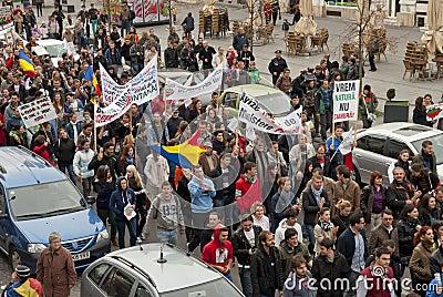 Romania in continuous protest Editorial Stock Photo
