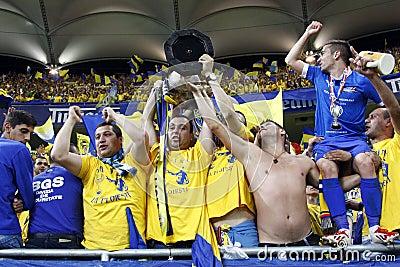 Romania Cup Final: Petrolul Ploiesti - CFR Cluj Editorial Stock Image