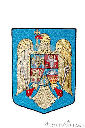 Romania Emblem isolated on white