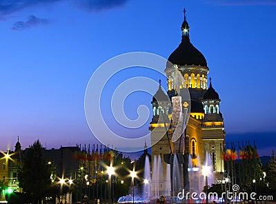 Romania för napoca för avramcluj iancu fyrkant