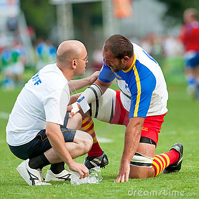 Romania and Italy battle during IRB Nations Cup Editorial Image
