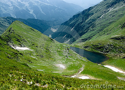 Romania mountain lake