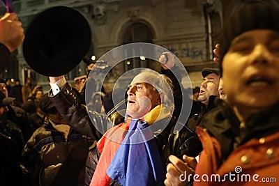 Romania Political Rally Editorial Photo