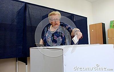 Romania - President Referendum Editorial Photo