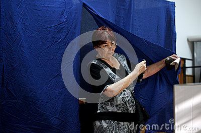 Romania - President Referendum Editorial Photo