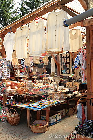 Romania, traditional art and craft fair Editorial Stock Image