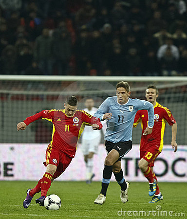 Romania-Uruguay Friendly Match Editorial Stock Image