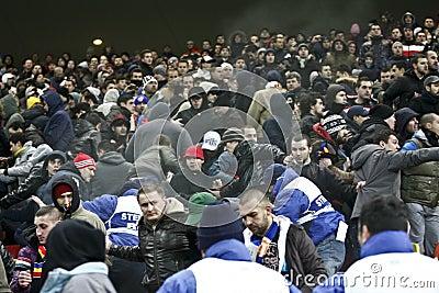 Romania-Uruguay Friendly Match Incidents Editorial Photo