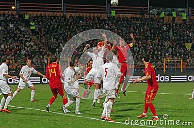 Romania vs Luxembourg Editorial Photo