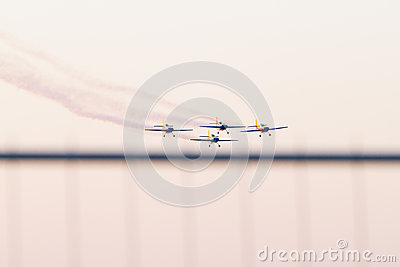 Romanian Air-club at sunset Editorial Photography