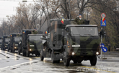 Romanian army parade Editorial Photography