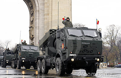 Romanian army parade Editorial Photography
