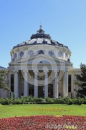 The Romanian Athenaeum in Bucahrest,Romania