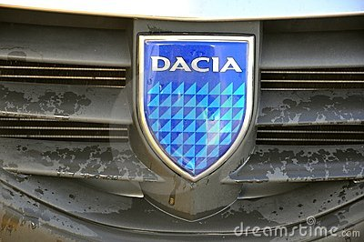 Romanian car Dacia logo Editorial Photography