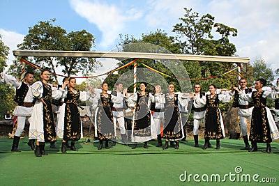 Romanian circle dance Editorial Photo