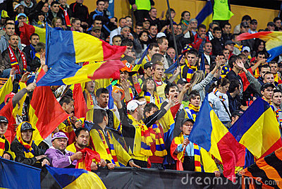 Romanian fans Editorial Image