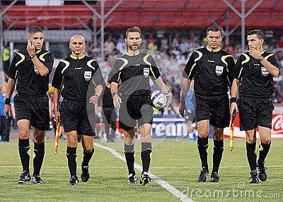 Romanian FIFA Referees Editorial Stock Photo