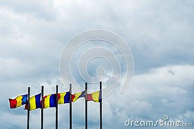 Romanian flags