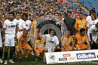 Romanian Footbal Stars vs. World Stars Editorial Image