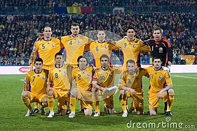 Romanian football team Editorial Stock Photo