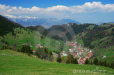 Romanian highland village