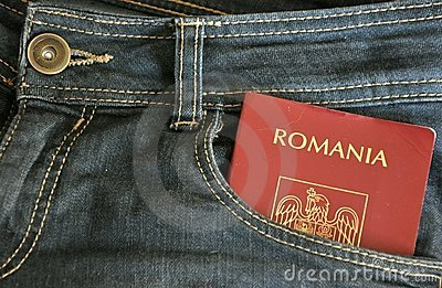 Romanian immigration concept