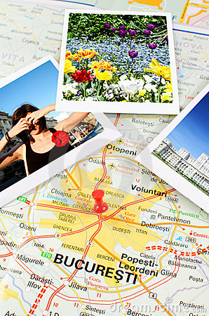Romanian map - Bucharest