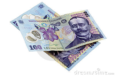 Romanian money bills lei