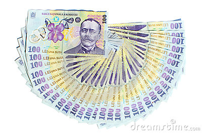 Romanian money isolated