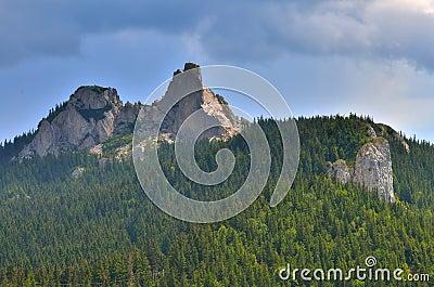 Romanian mountain peak landmark