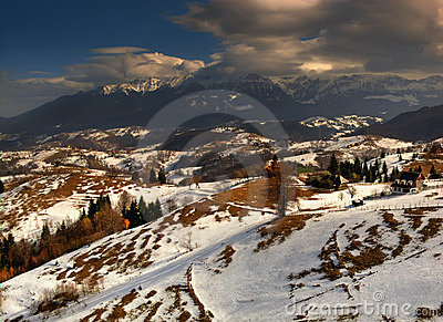 Romanian mountains in winter