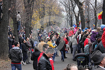 Romanian National Day parade watching Editorial Image