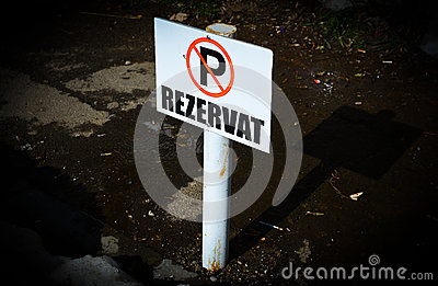 Romanian No Parking Sign