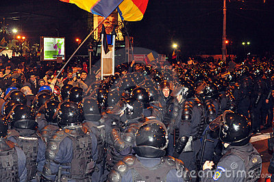 Romanian Protest 19/01/2012 - 10 Editorial Photo