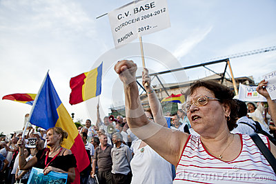 Romanian protesters Editorial Stock Image