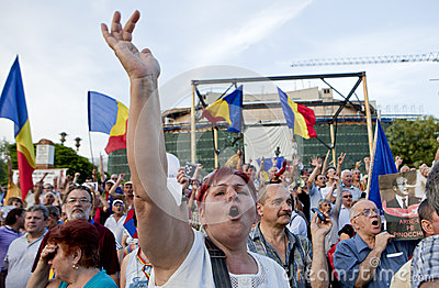 Romanian protesters Editorial Image