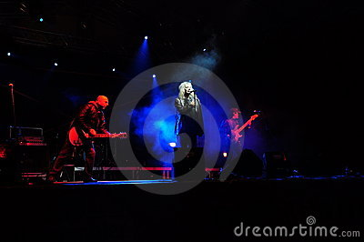 Romanian rock band IRIS in concert Editorial Photography
