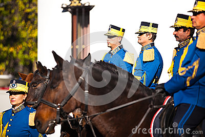 Romanian Royal Guards Editorial Photo