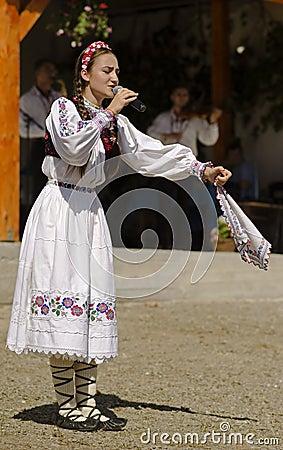 Free Romanian Singer Alexandra Chira Stock Image - 80705251