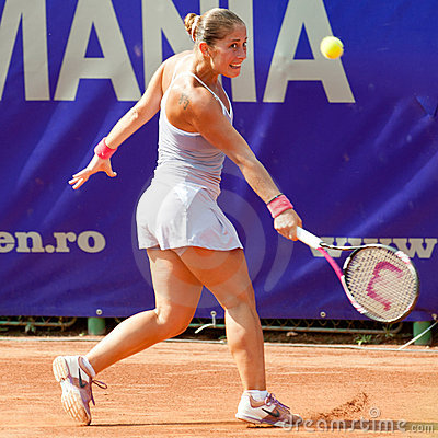 Romanian tennis player Madalina Gojnea Editorial Stock Photo