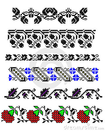 Romanian traditional carpet borders