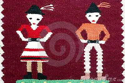 Romanian traditional carpet ornament
