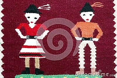 Romanian traditional carpet ornament